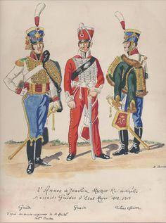 2e Armée de Joachim Murat, roi de Naples Hussards Guides d'Etat Major 1812-1813 Guide Guide Sous-officier