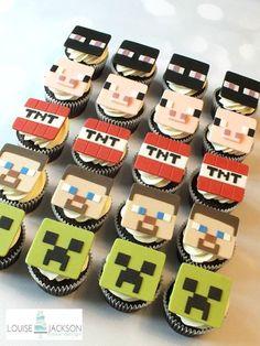 Cupcakes de Minecraft