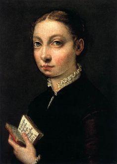 Sofonisba Anguissola, self portrait  ~~ Cremona 1532 - Palermo 1625