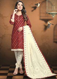 Salwar Suits Online, Designer Salwar Suits, Patiala Suit, Salwar Kameez, Stylish Suit, Top Colour, Red Color, Online Shopping Stores, Designer Wear