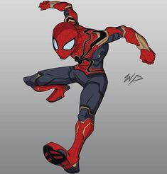 Explore collection of Iron Spider Drawing Amazing Spiderman, Spiderman Poses, Spiderman Art, Marvel Art, Marvel Dc Comics, Marvel Heroes, Marvel Avengers, Drawing Cartoon Characters, Marvel Characters