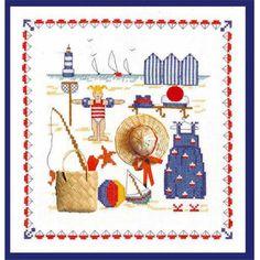 Kit broderie point de croix accessoires mer Le Bonheur des Dames 2610