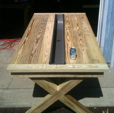 Builders Showcase: Rustic Outdoor Table with Trough | The Design Confidential