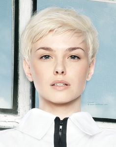 Very Short Hairstyles for Women with Pretty Haircuts: Very Short Haircuts For Women Short Haircut With Soft Lines For Platinum Blonde Hair ~ newhaircutsforwomen.com Hairstyle for Women Inspiration