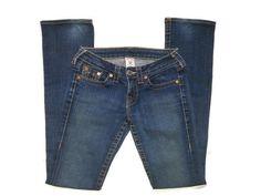 True Religion Women's Johnny Dark Denim Jeans RN# 112790 CA# 30427 Size 26 #TrueReligion #LYLACS_4U #freeshipping #jeans
