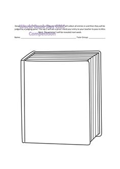 Book Cover Template | Free Book Cover Template For Kids Tim S Printables Art Education