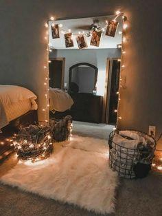 Cute Bedroom Decor, Room Design Bedroom, Teen Room Decor, Stylish Bedroom, Room Ideas Bedroom, Modern Bedroom, Bedroom Inspo, Mirror For Bedroom, Bed Room