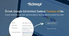Örnek #Google görüntüsü #Ticimax #eticaret altyapısında! SEO başlık ve açıklamanızı girin, Gelişmiş #SEO panelimiz ile Google'da nasıl görüneceğinizi anında öğrenin. Şimdi ücretsiz test edin.  www.ticimax.com  #eticaret #sanalmağaza #eticaretsitesi #onlinesatış #ecommerce #mobilticaret #satışsitesi #ticimax
