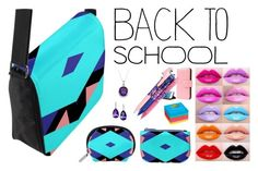 """Blue, Pink and Purple Back To School Bag"" by circus-valley on Polyvore featuring Vera Bradley, Post-It, BackToSchool and inmybackpack"
