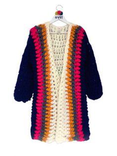 Crochet Coat, Crochet Jacket, Crochet Cardigan, Crochet Clothes, Knitwear Fashion, Crochet Fashion, Freeform Crochet, Crochet Stitches, Crochet World