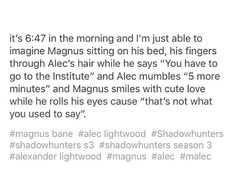 Can't wait for March 20th cause I'm missing malec