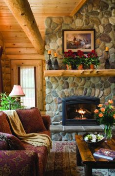 Log mantel