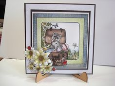 AbFab Designs: I Wuff You loving these pooches. Products used Pam...
