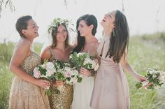 Mint and gold destination wedding | Photo by Dixie Pixel | Gold dress by Badgley Mischka | Read more - http://www.100layercake.com/blog/?p=66859