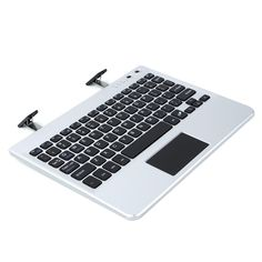 de9e4309213 Imikoko® Ultra Slim Bluetooth Wireless Keyboard with Touchpad and Stand -  Silver