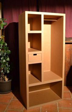 Petit bloc dressing en carton www.mobilier-carton-sur-mesure.com