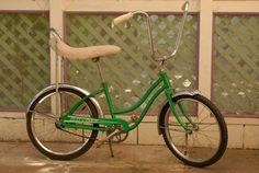 1970's Metallic Green Huffy Spyder Bike (with a banana seat!!!)