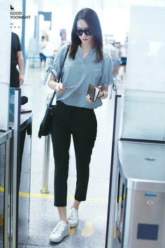 #YoonA #SNSD #FanMeeting  #160707  #Incheon Airport back from #China #airportfashion #2016