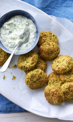 Deep-fried is nice, but if you want a healthier option go for Tom Kerridge's healthy baked falafel with tart tzatziki. Healthy Indian Recipes, Veg Recipes, Vegetarian Recipes, Cooking Recipes, Healthy Falafel Recipe, Baked Falafel Recipe, Falafels, Egyptian Food, Healthy Baking