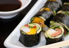 Riceless, No Soy Sushi  www.theclothesmakethegirl. I made this yesterday without the mango...so good!