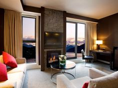Hilton Queenstown Hotel, Queenstown, New Zealand : Hotels and Resorts : Condé Nast Traveler Queenstown Hotel, Queenstown New Zealand, New Zealand Hotels, New Zealand Travel, Lake Wakatipu, Hotel Decor, Great Hotel, Romantic Vacations, Luxury Accommodation