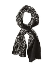 69% OFF Amicale Men's Two-Tone Scarf (Black/White)