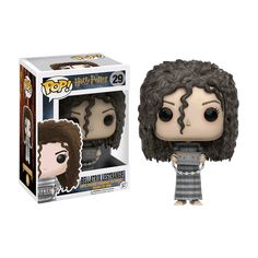 A pure-blood witch and known Death Eater, Madam Bellatrix Lestrange was fanatically loyal to Lord Voldemort and was among the most dangerous and sadistic of Lord Voldemort's followers. You can now get Bellatrix Lestrange in Pop! Vinyl form!  This variant has Bellatrix in her Azkaban prison outift.  Product Details:   Size: Approx. 9.5cm Tall