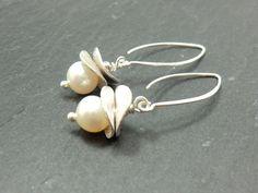 ♥ Silberohrringe mit echten Perlen ♥ von ke-schmuckART auf DaWanda.com