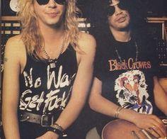 Duff McKagan and Slash.