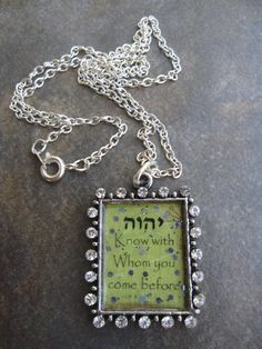 Know with Who you come before necklace by RestingonHisword on Etsy, $22.00