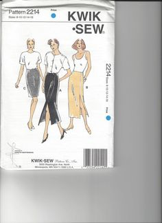 Kwik Sew Pattern 2214 sizes 8-16 UNCUT by SewingasaHobby on Etsy