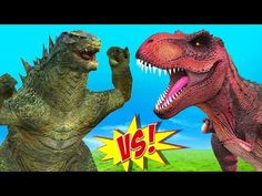 (2) Dinosaurs Godzilla Finger Family | Preschool Songs | Nursery Rhymes For Toddlers | Rhymes For Kids - YouTube
