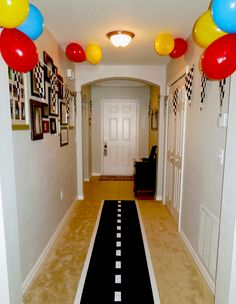 Here's a cute vinyl-on-the-floor idea for children who enjoy racing cars! :)