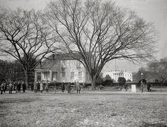 In February 1924, after just eight months in its original location, this building was moved in a few blocks to serve as the headquarters of the Girl Scouts of America. The White House can be seen in the back. Learn more: http://ghostsofdc.org/2015/03/12/the-little-house-in-dc-plays-unique-role-in-girl-scout-history