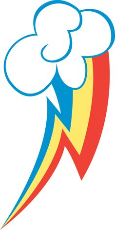 Rainbow Dash cutie mark template
