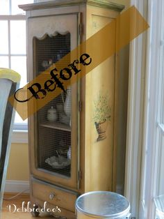 #pie #hutch furniture makeover. It had to happen. You must see the new updated verision.