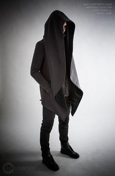 Winter mantle with big hood grey color Зимняя Мантия с большим капюшоном утепленная (220.00 USD) by FreakButik