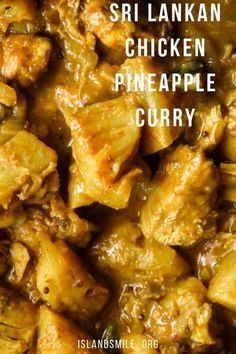 Chicken pineapple curry(Sri Lankan and spicy).A curry flavored chicken and pineapple curry Sri Lankan style is just what you need to cook for dinner. Pineapple Curry Chicken, Chicken Curry Coconut Milk, Indian Food Recipes, Asian Recipes, Healthy Recipes, Sri Lankan Chicken Curry Recipe, Indian Chicken Dishes, Sri Lankan Recipes, Pineapple Recipes