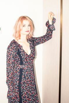 Actress Alison Sudol On Her Fantastic Beasts Role: We get philosophical with the actress before the film's release on Friday. -- Red and black floral printed dress. | Coveteur.com