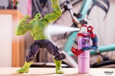 Stunning Mashup Photos of Superhero Action Figures by Japanese Photographer Hotkenobi #inspiration #photography
