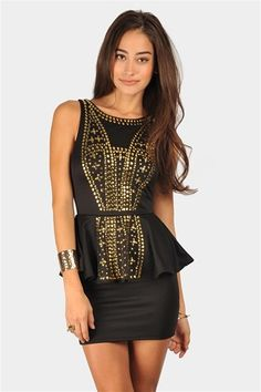 Akila Peplum Dress - Black from Necessary Clothing with 10% off http://studentrate.com/StudentRate/fashion/fashion.aspx