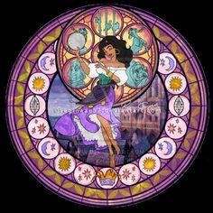 Esmeralda, rose window