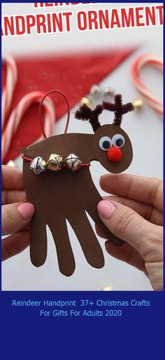 This easy reindeer handprint craft makes the perfect keepsake gift for Christmas! Turn it into a card or make it into an ornament. christmas crafts for gifts for adults Reindeer Handprint 37+ Christmas Crafts For Gifts For Adults 2020 Christmas Crafts For Gifts For Adults, Christmas Crafts For Toddlers, Toddler Crafts, Kids Gifts, Preschool Crafts, Kids Christmas, Christmas Ornaments, Reindeer Handprint, Crafts To Make