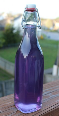 Wild Violet Syrup. Next spring when the violets come up in my garden, I will definitely be making this. Hmmm. Could even be a homemade liqueur, with the addition of vodka.