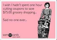 I wish I hadn't spent 1 hr clipping coupons... said no one ever #couponing FreeCoupons.com