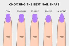 Nail Shapes: How To Shape Your Nails .Do you know the ideal nail shape for your manicure? Discover five different nail shapes and how to file them. Love Nails, How To Do Nails, Pretty Nails, Acrylic Nails Natural, Shapes Of Acrylic Nails, Shapes Of Nails, Short Rounded Acrylic Nails, Squoval Acrylic Nails, Acrylic Nails Almond Short