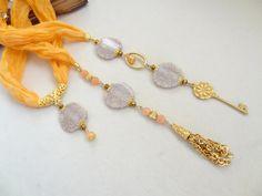 Salmon Scarf Necklace Turkish Silk by sevinchjewelry on Etsy Scarf Necklace, Jade Necklace, Scarf Jewelry, Necklace Ideas, Red Jewelry, Beaded Jewelry, Jewelry Necklaces, Beaded Bracelets, Handmade Necklaces