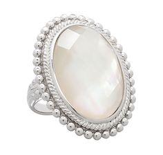 Honora Mother of Pearl Doublet Oval Shaped Sterling Silver Ring Elizabeth Grant, Doublet, Joan Rivers, Jewelry Shop, Sterling Silver Rings, Jewerly, Online Shopping, Gemstone Rings, Pearls