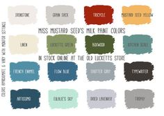 Miss Mustard Seed's Milk Paint colors - grain sack for kitchen