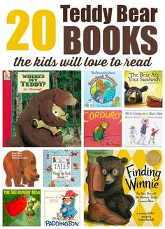 Teddy Bear Books for Kids PLUS 10 bear themed activities for Kids as you read the stories about bears.